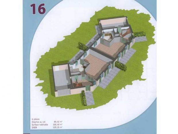 Plan de haut d\'un projet de maisons jumelées
