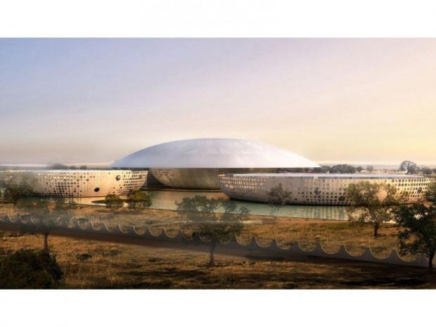 Le futur centre de conférence de Ouagadougou