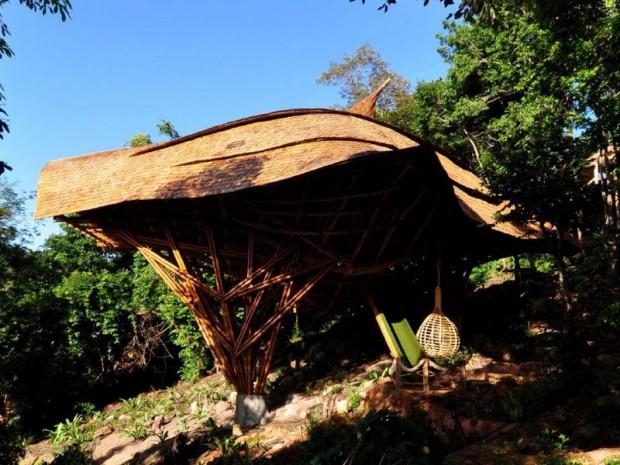 Un centre éducatif en bambou