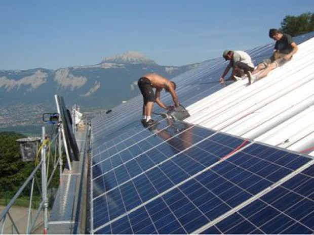 Eglise modules photovoltaiques