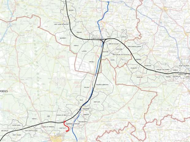 Tracé de la carte LGV Sud-Ouest