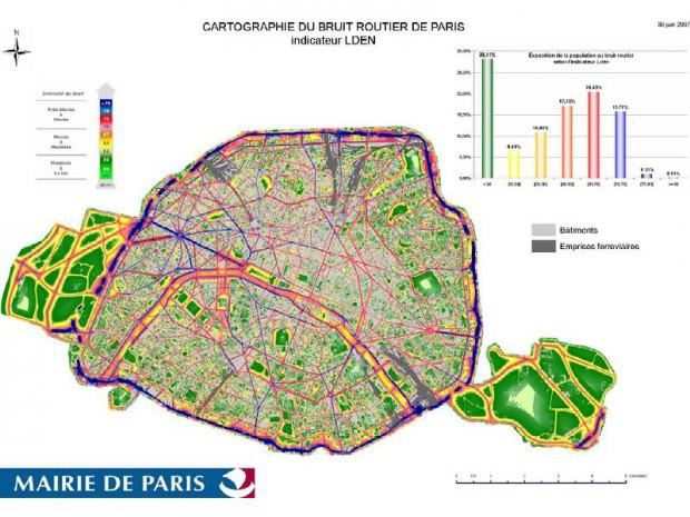 Carte du bruit parisien