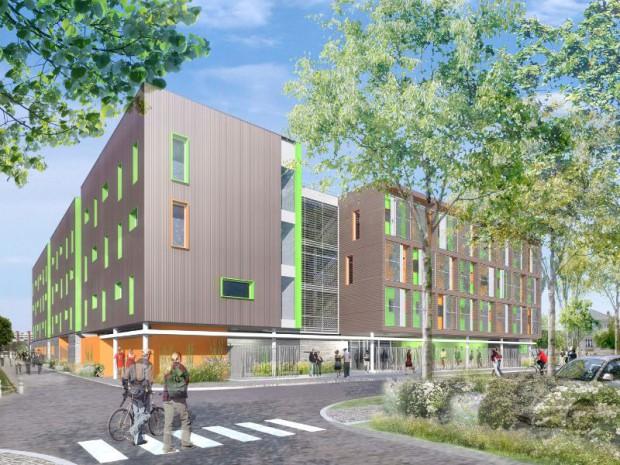 200 logements modulaires Yves Cougnaud à Villetanneuse (93)