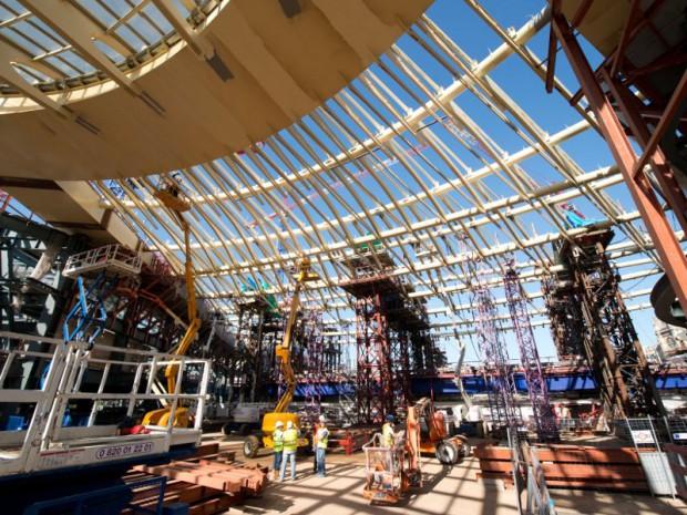 Canopée des Halles chantier en octobre 2013