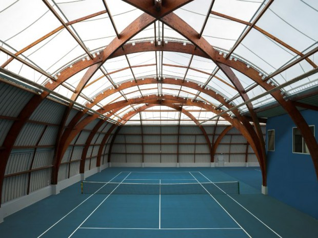 La rénovation du tennis-club de Bourg-la-Reine