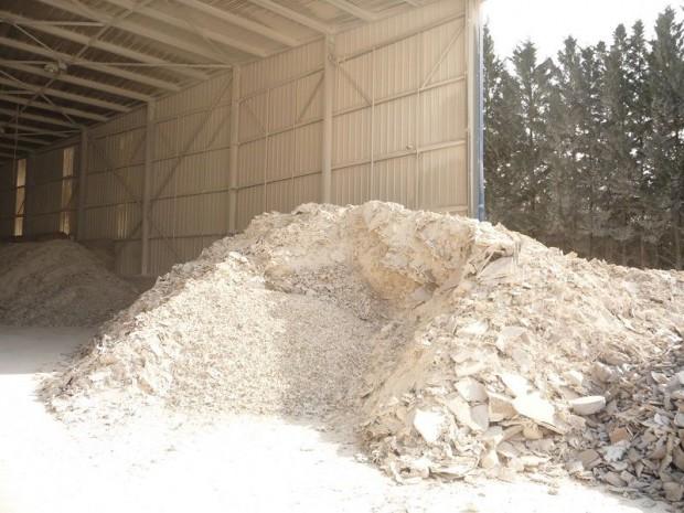 Plâtre déchets