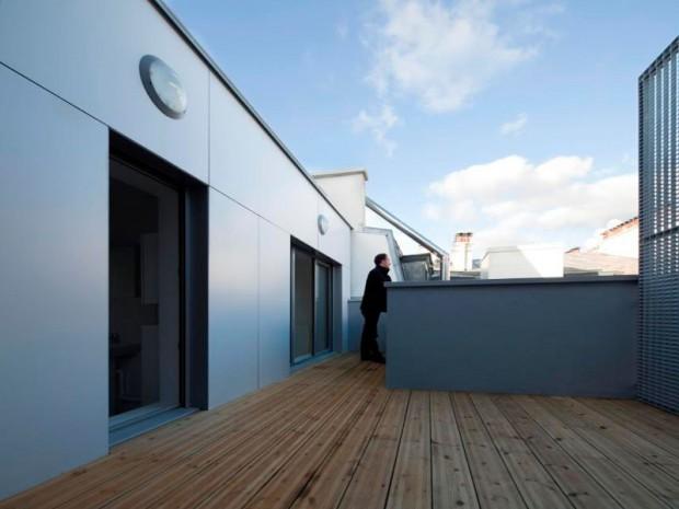 Construction de 6 appartements sociaux dans la rue des Poissonniers, 18ème à Paris