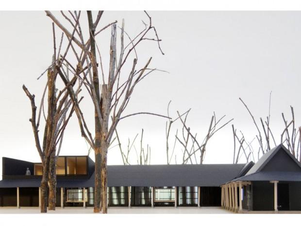 BOIDOT & ROBIN ARCHITECTES / Julien Boidot, Émilien Robin Un toit en lisière, ateliers municipaux et logements de fonction, Poigny-la-Forêt (Yvelines)