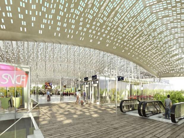 La gare nouvelle de Montpellier Sud de France et projet Icade
