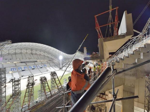 Inauguration du nouveau Vélodrome à Marseille