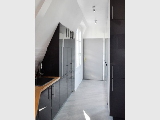 Rénovation d'un appartement sous pente Moutiez Haller