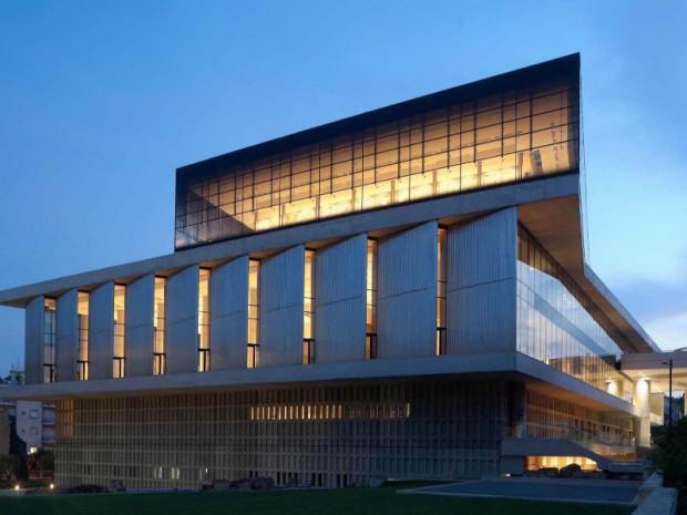 Musée de l'Acropole, à Athènes, Bernard Tschumi