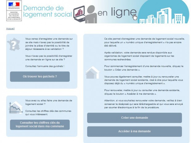 Site gouvernemental des demandes d'HLM