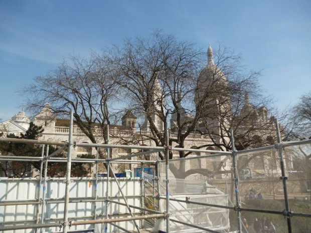 Chantier Spie Montmartre avril 2015