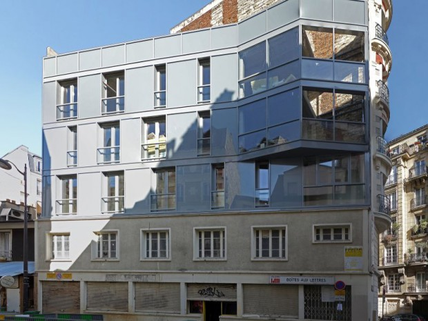Surelevation de logements rue de la-sablièrere, Paris 14