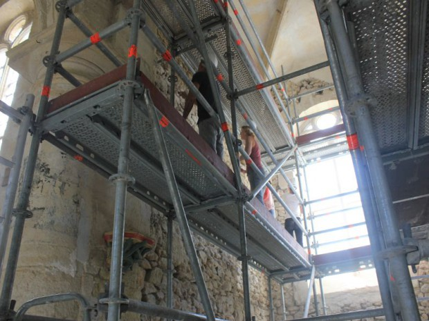 Opération de rénovation avec Rempart de l'église Saint-Saturnin à Chauconin-Neufmontiers