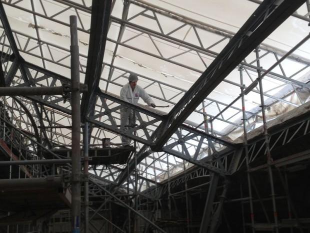 Chantier de rénovation de la gare d'Austerlitz en septembre 2015