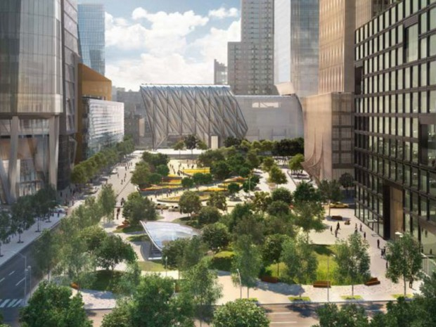 Hudson yards le futur co quartier de new york for Espace vert tours