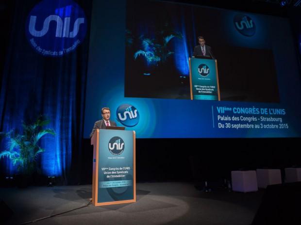 Le président de l'UNIS, Christophe Tanay, lors du congrès à Strasbourg.