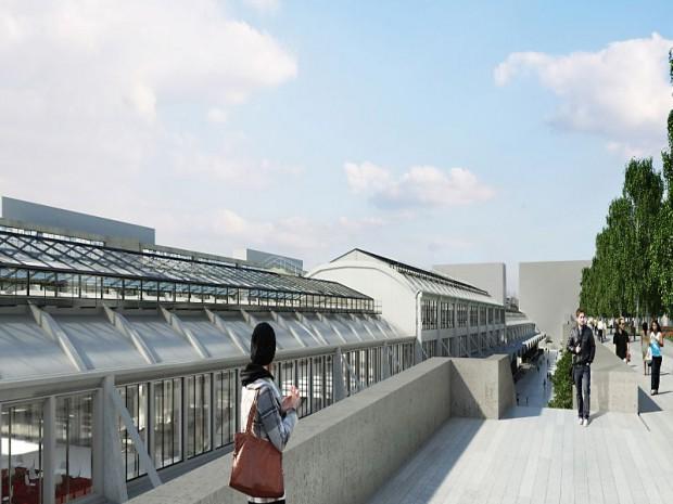 Reconversion lourde de la Halle Freyssinet à Paris, futur quartier de la French Tech