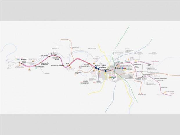 Ligne RER E ouest