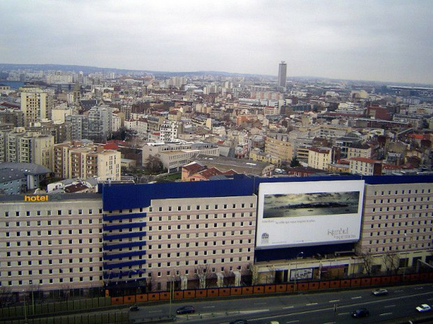 Vue sur la Seine-Saint-Denis depuis le 14ème étage de l'hôpital Bichat-Claude-Bernard, 18ème à Paris