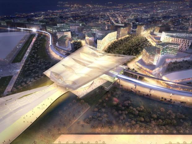 Réalisation de la gare de l'Exposition universelle 2020 de Dubaï