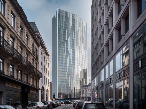 Une tour de verre entièrement passive pour la cité des métiers de