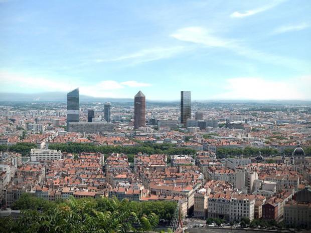 Réalisation de la tour Two Lyon à Lyon conçue par l'architecte Dominique Perrault