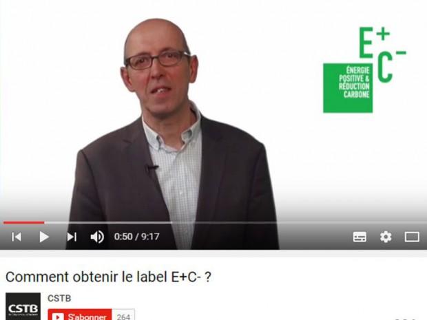 Vidéo du CSTB sur l'expérimentation E+C-