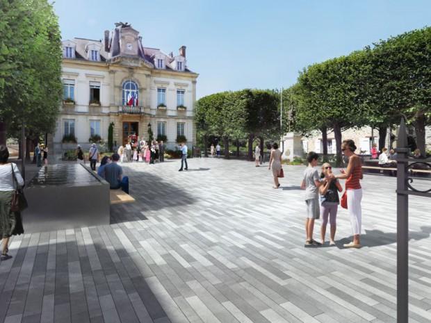Requalification des espaces publics du centre-ville d'Arpajon (Essonne)