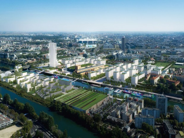 Vue d'ensemble du village olympique de Paris 2024