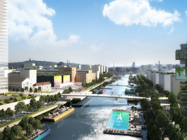 Vue du futur village olympique de Paris 2024