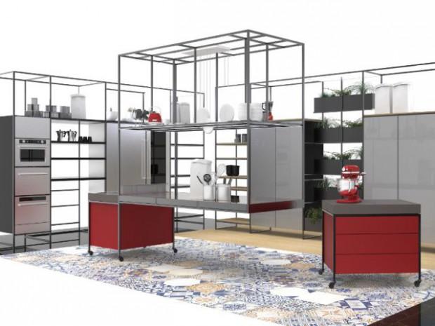 Une cuisine aérienne et mobile
