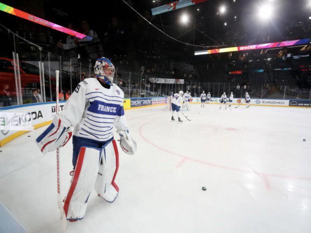 L'Accor Hotels Arena  de Paris-Bercy transformée en patinoire à l'occasion du mondial de hockey-sur-glace 2017