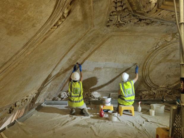 Restauration du Dôme des 4 rangs en cours