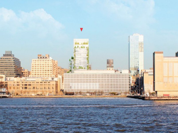 Réalisation de la Garden Tower à Manhattan (New York) par l'architecte Françoise Raynaud de l'agence Loci Anima