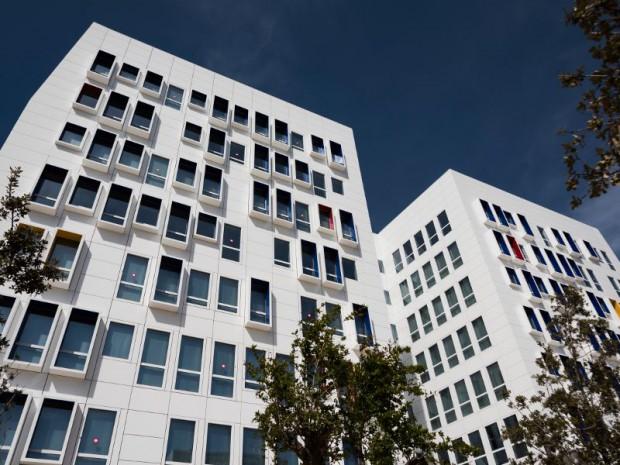 L'Astrolabe, immeuble de bureaux d'Euromed Center à Marseille, livré en janvier 2015 et porté par Foncière des Régions à Marseille.