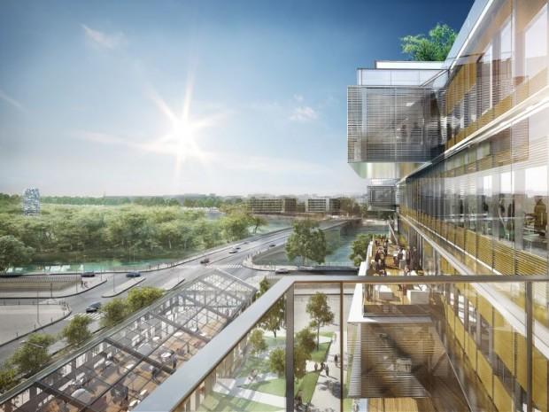 Futur siège d'Orange imaginé par Jean-Paul Viguier