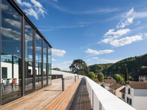 Réalisation du Centre d'hébergement et d'accueil international (CHAI) de Cahors par l'architecte Antonio Virga