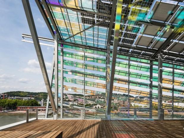 Réalisation en juin 2017 du Siège de la Métropole Rouen Normandie imaginé par l'architecte Jacques Ferrier