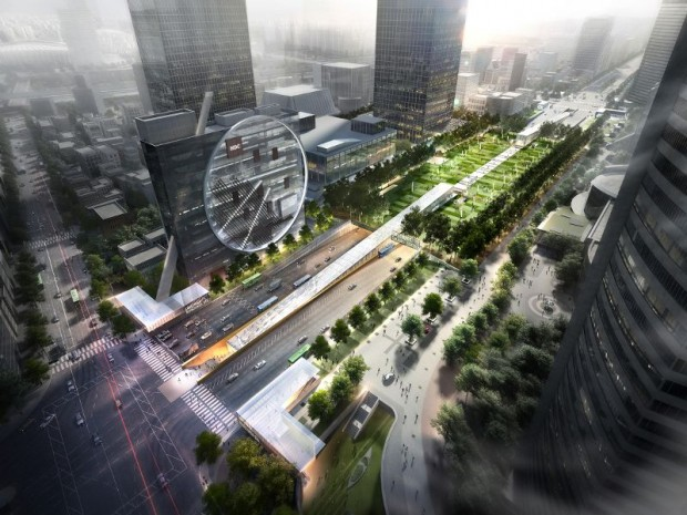 L'agence Dominique Perrault Architecture remporte le concours international pour la construction de Light Walk à Séoul (Corée du Sud), un pôle multimodal et centre commercial