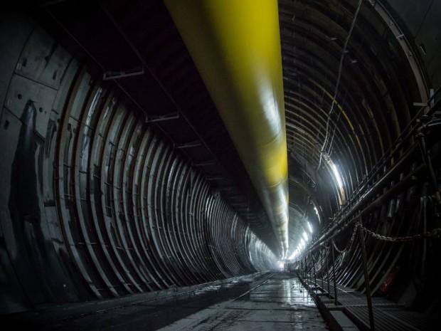 Découverte le 27 octobre 2017 du tunnel de reconnaissance de Saint-Martin-La-Porte (Savoie) de la nouvelle ligne ferroviaire Lyon-Turin