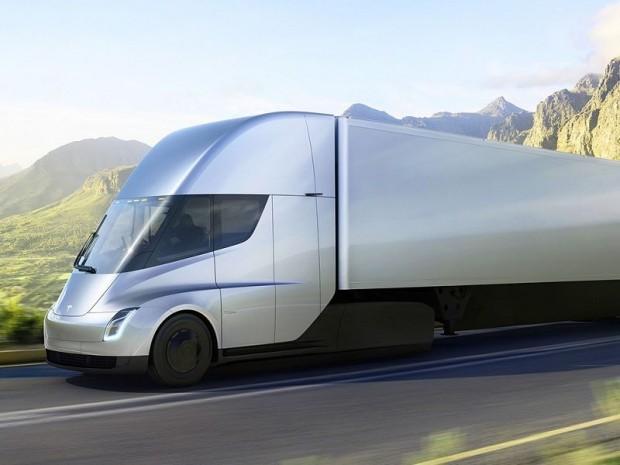 tesla pr sente semi le camion du futur. Black Bedroom Furniture Sets. Home Design Ideas