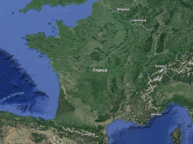 France vue satellite