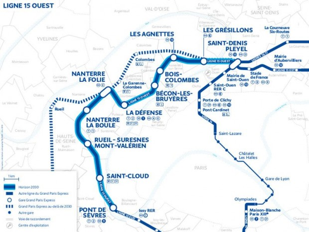 Grand Paris Express ligne 15 Ouest