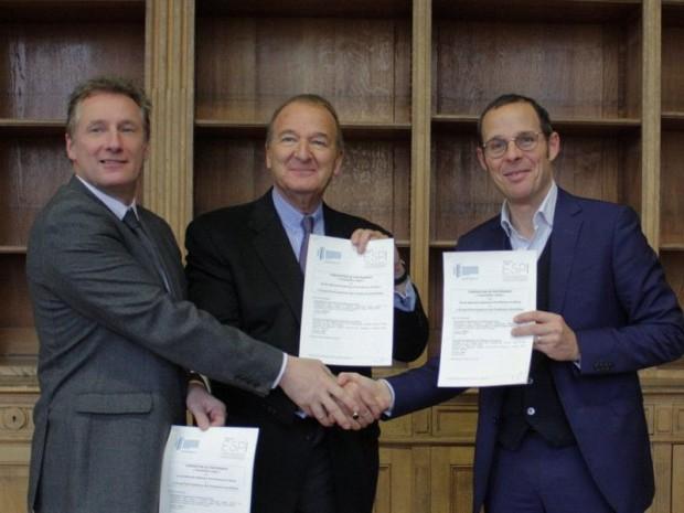 Signature du partenariat ESPI et ENSA Nancy