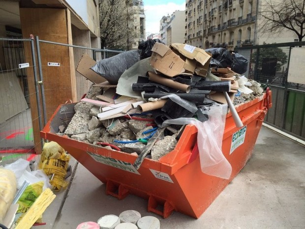 illustration déchets de chantier