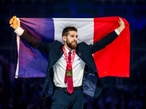 Julien Martinet, médaille d'or carrelage