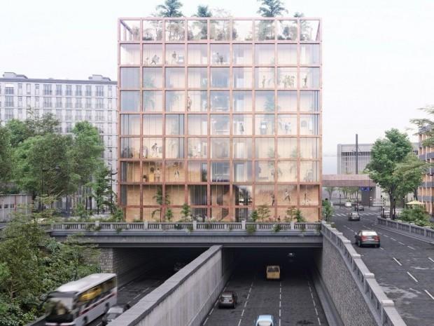Foyer en bois de 114 chambre à Paris